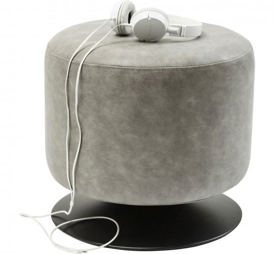 Tabouret Richi gris Kare Design