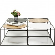 Tables basses Quattro Circles 100x100cm set de 4 Kare Design