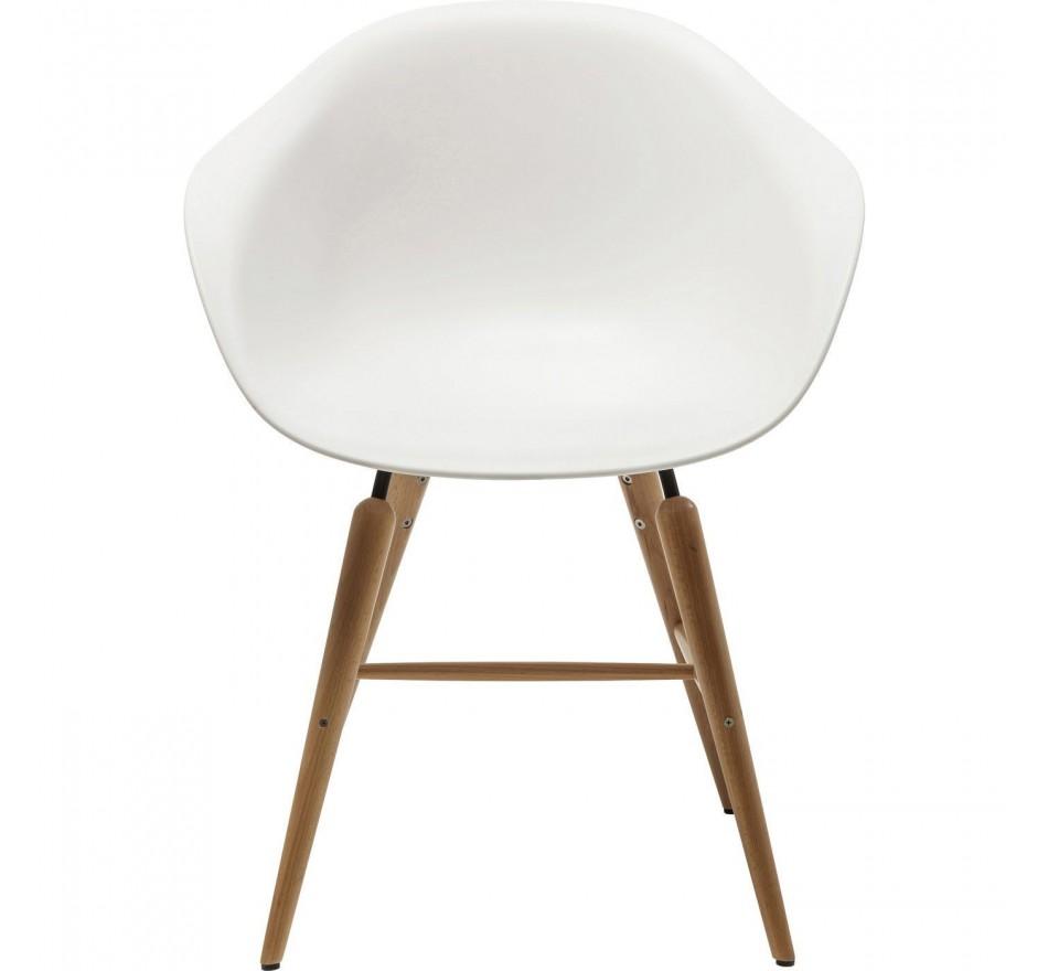 Chaise avec accoudoirs Forum Object blanc Kare Design