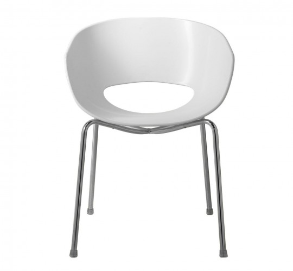Chaise design Eggshell blanche Kare Design