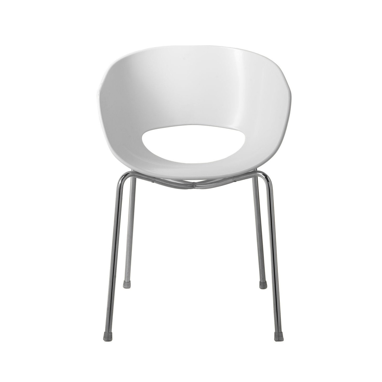 Chaise design eggshell blanche kare design for Chaise design blanche