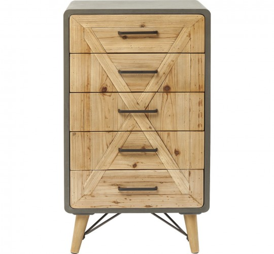 Commode haute X Factory 5-tiroirs Kare Design