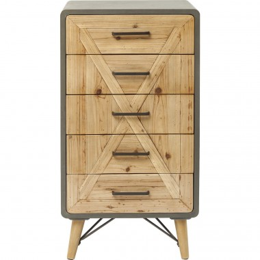 Commode haute X Factory 5 tiroirs Kare Design