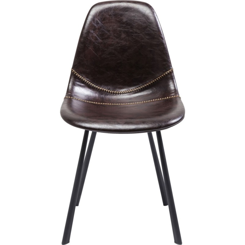 Chaise cuir marron lounge kare design for Chaise kare design