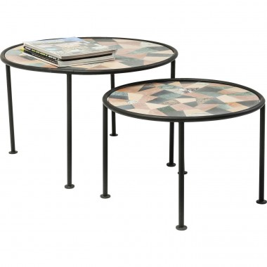 Tables basses Coccio set de 2 Kare Design