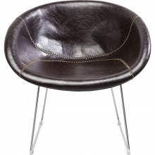 Fauteuil Lounge marron Kare Design