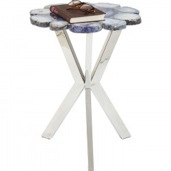 Table d'appoint Treasury bleue 40cm Kare Design