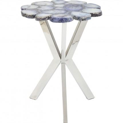 Table d'appoint Treasury bleue 40cm Kare Design