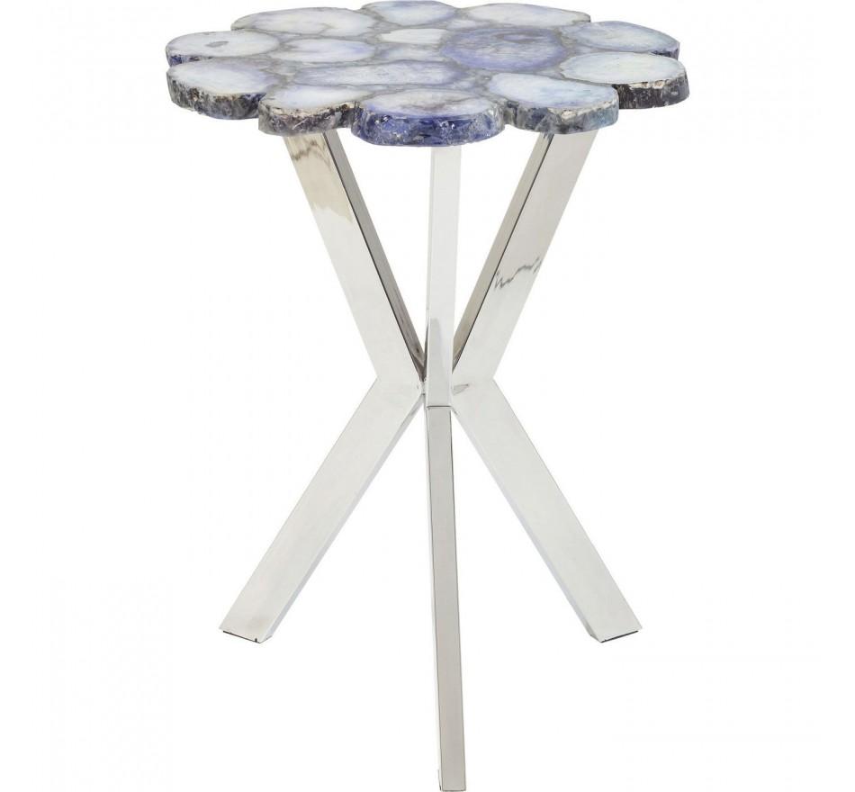 Table d'appoint Treasury bleu 40cm Kare Design