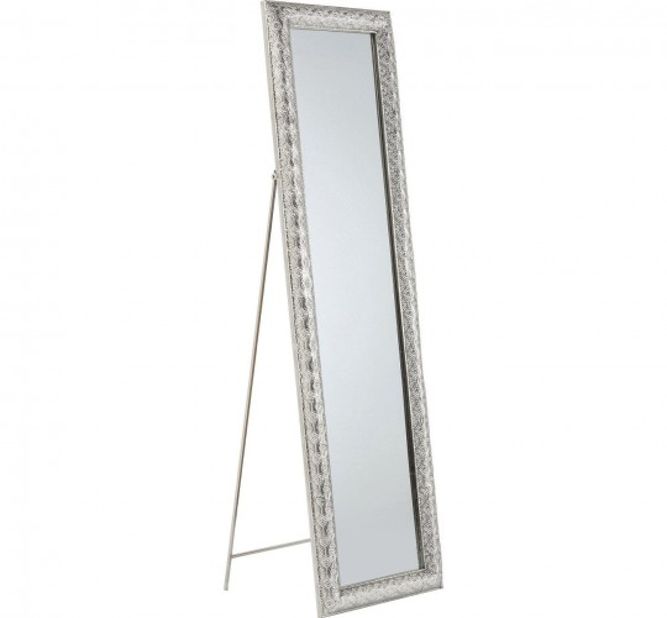 Miroir à pied, argenté, inspiration orientale - Orient - Kare Design
