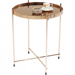 Table d'appoint Miami or rose 42cm Kare Design