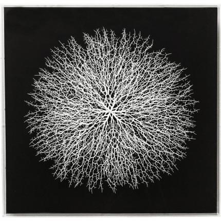 Tableau Vascular noir 90x90cm Kare Design