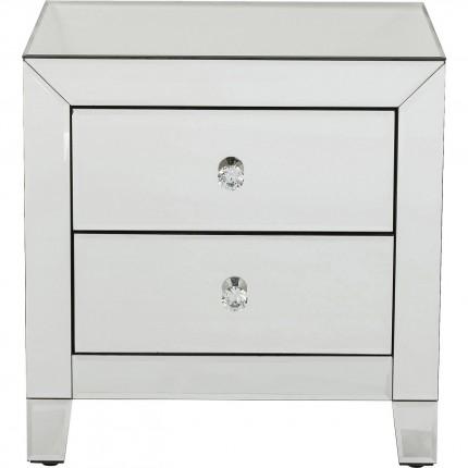 Chevet Luxury 2 tiroirs argent Kare Design