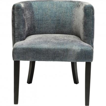 Chaise avec accoudoirs Theater bleu gris Kare Design
