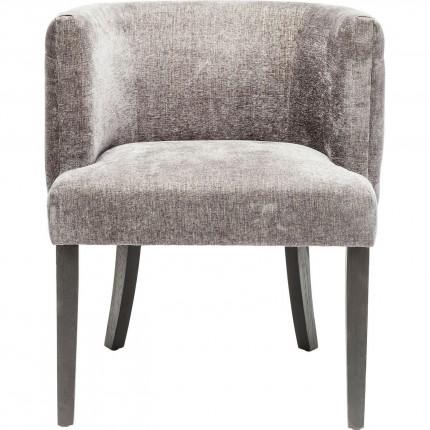 Chaise avec accoudoirs Theater gris foncé Kare Design