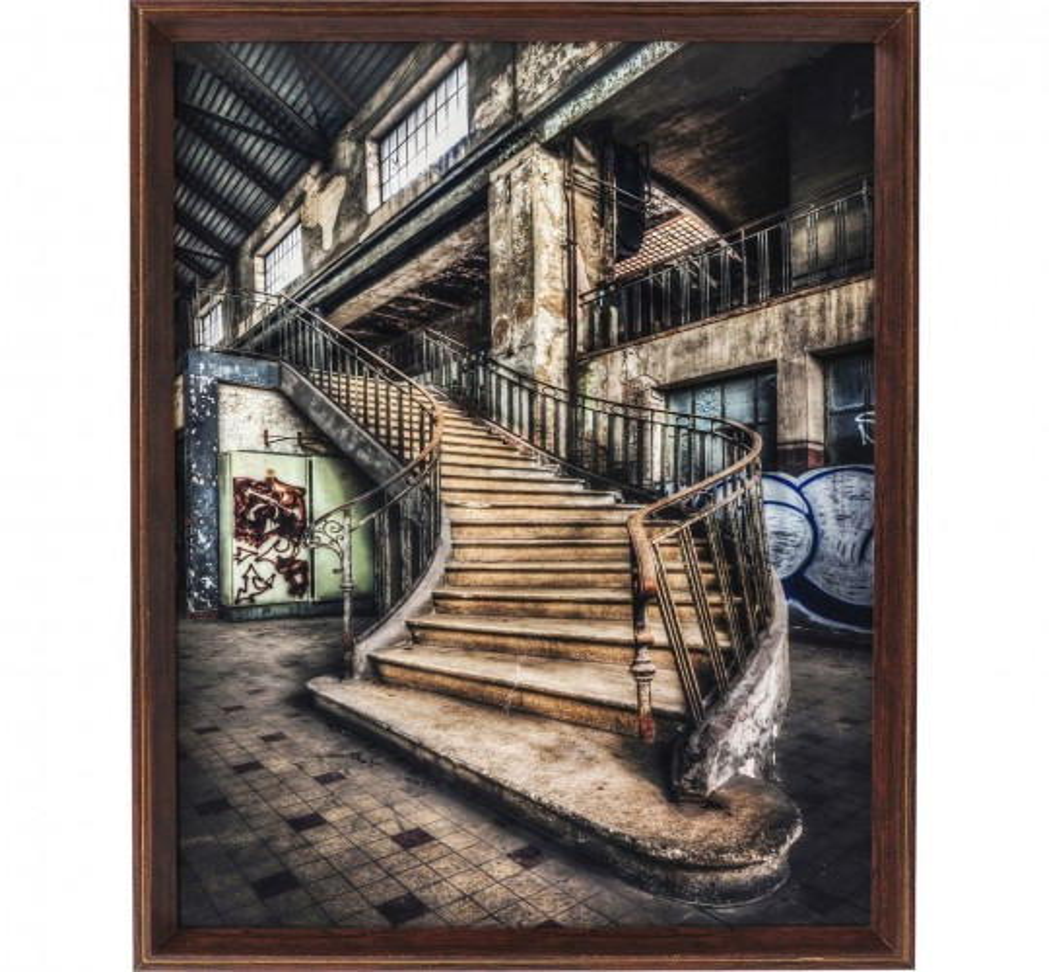 Tableau Frame Old Staircase 80x60cm Kare Design