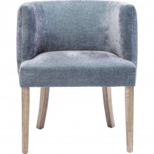 Chaise avec accoudoirs Theater bleu Kare Design
