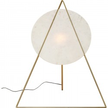 Lampadaire Triangle marbre blanc Kare Design