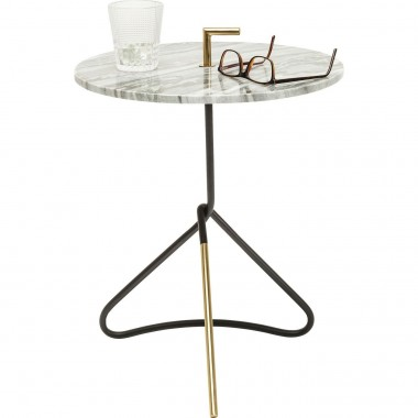 Table d'appoint Doblado blanche 42cm Kare Design