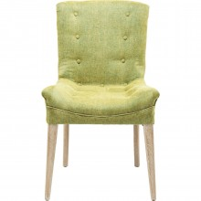 Chaise Stay verte pieds clairs Kare Design
