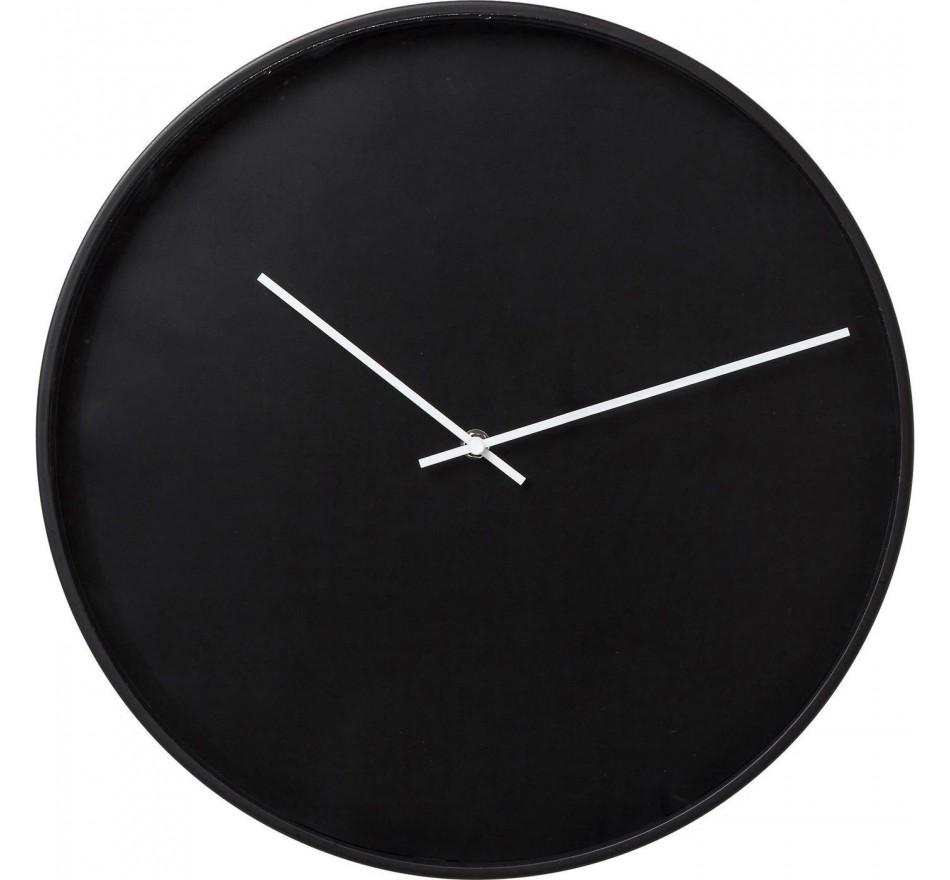 Horloge murale Timeless noire 40cm Kare Design