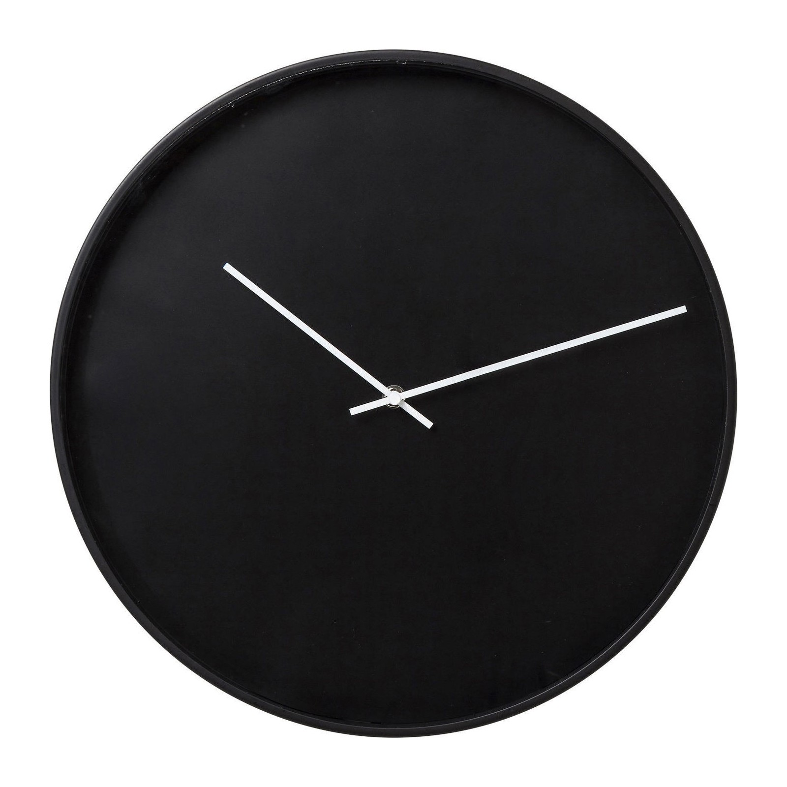 horloge murale timeless noire 40cm kare design. Black Bedroom Furniture Sets. Home Design Ideas