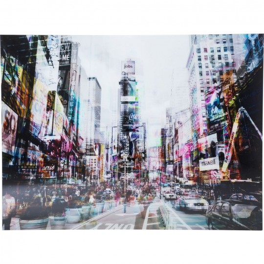 Tableau en verre Times Square Move 70x90cm Kare Design