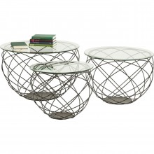 Table basse Wire Grid set de 3 Kare Design