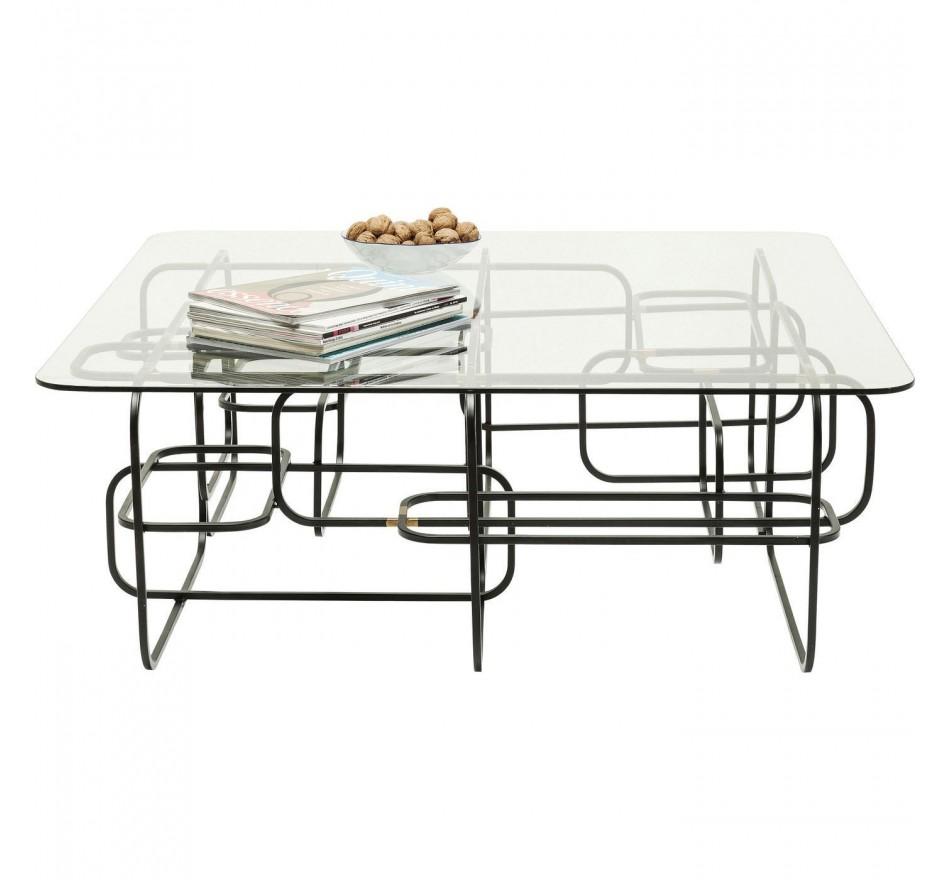 Table basse Meander noire 100x100cm Kare Design