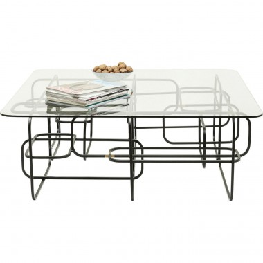 Table basse Meander noire 100x100cm Kare Design