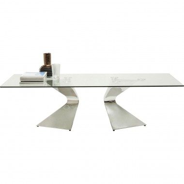 Table basse Gloria chromée 140x82cm Kare Design