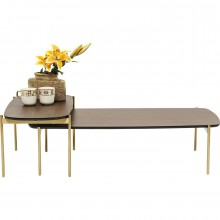 Table basse Miami Gardens noix set de 2 Kare Design