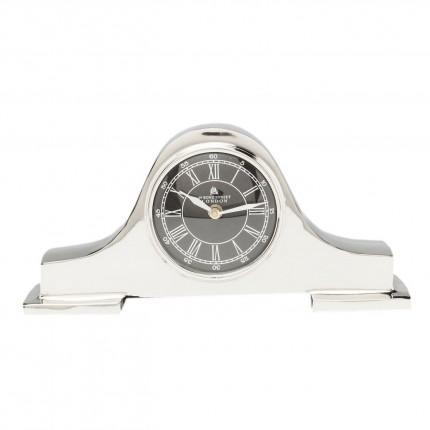 Horloge à poser Fireplace argentée Kare Design
