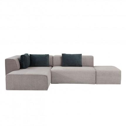 Canapé d'angle Infinity Soft gauche gris Kare Design