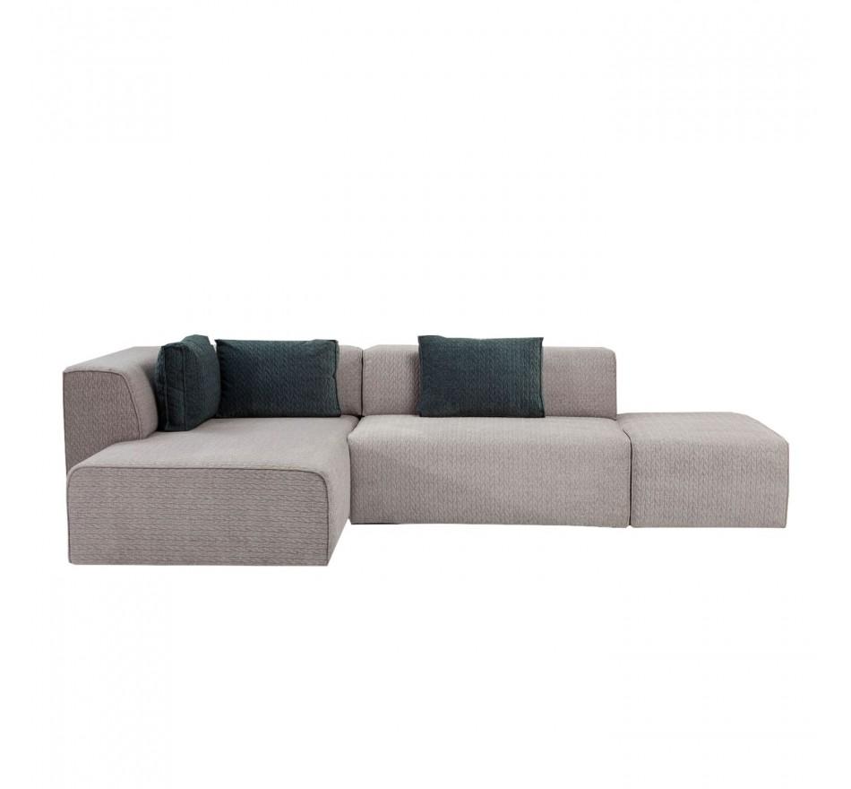 Canapé Infinity Soft gris gauche Kare Design