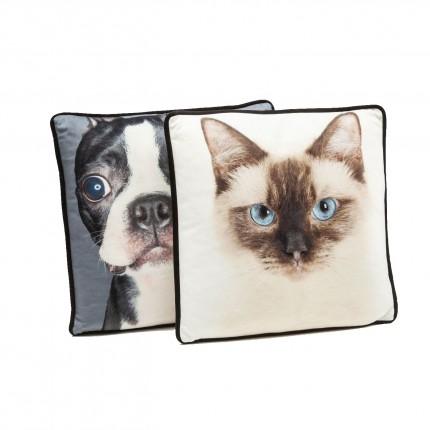 Coussins chien et chat 40x40cm set de 2 Kare Design