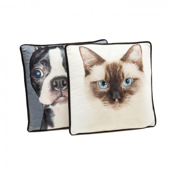 Coussin Cat and Dog 40x40cm Kare Design