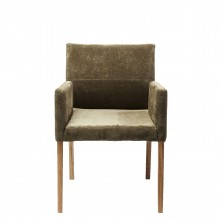Chaise avec accoudoirs Mira olive Kare Design