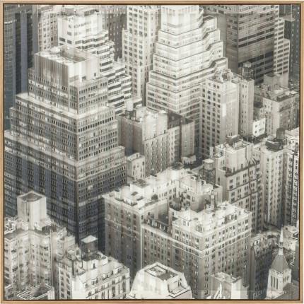 Tableau Frame Art 3D City View One 80x80cm Kare Design