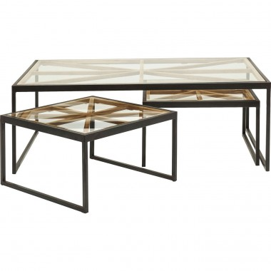 Tables basses Beam set de 3 Kare Design