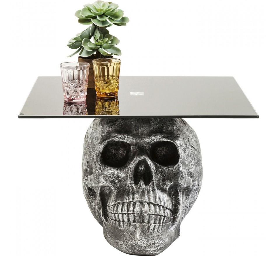 Table basse Skull Rockstar by Geiss 60x60cm Kare Design