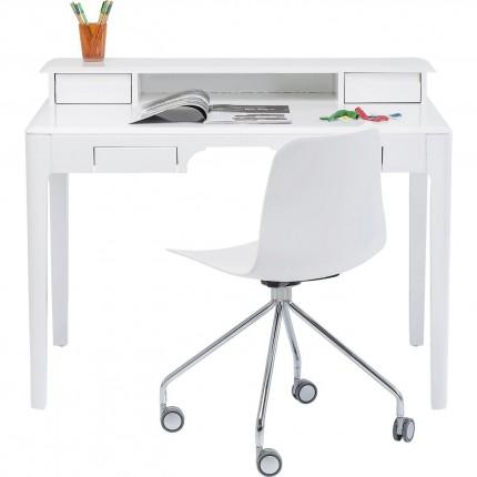 Bureau Brooklyn blanc 110x70cm Kare Design