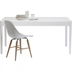 Table Brooklyn blanc 160x80cm Kare Design