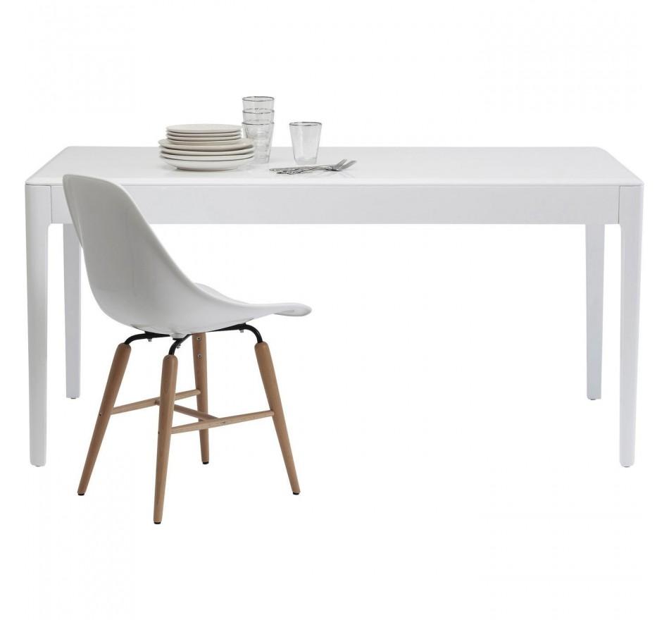 Table Brooklyn blanc 160x80cm Kare Design