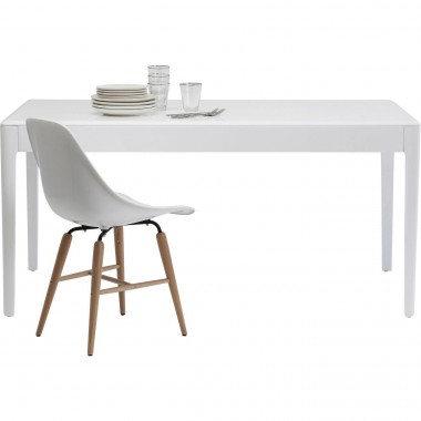 Table Brooklyn blanche 160x80cm Kare Design