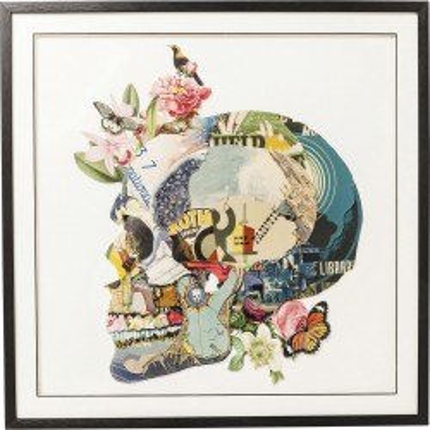 Tableau Frame Art Skull 100x100cm Kare Design