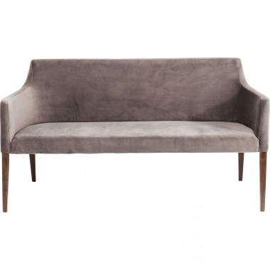 Banquette Mode velours gris Kare Design