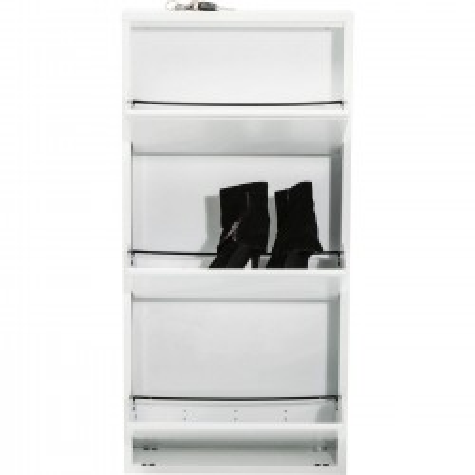 Casier à Chaussure Caruso Blanc 3 Tiroirs Kare Design