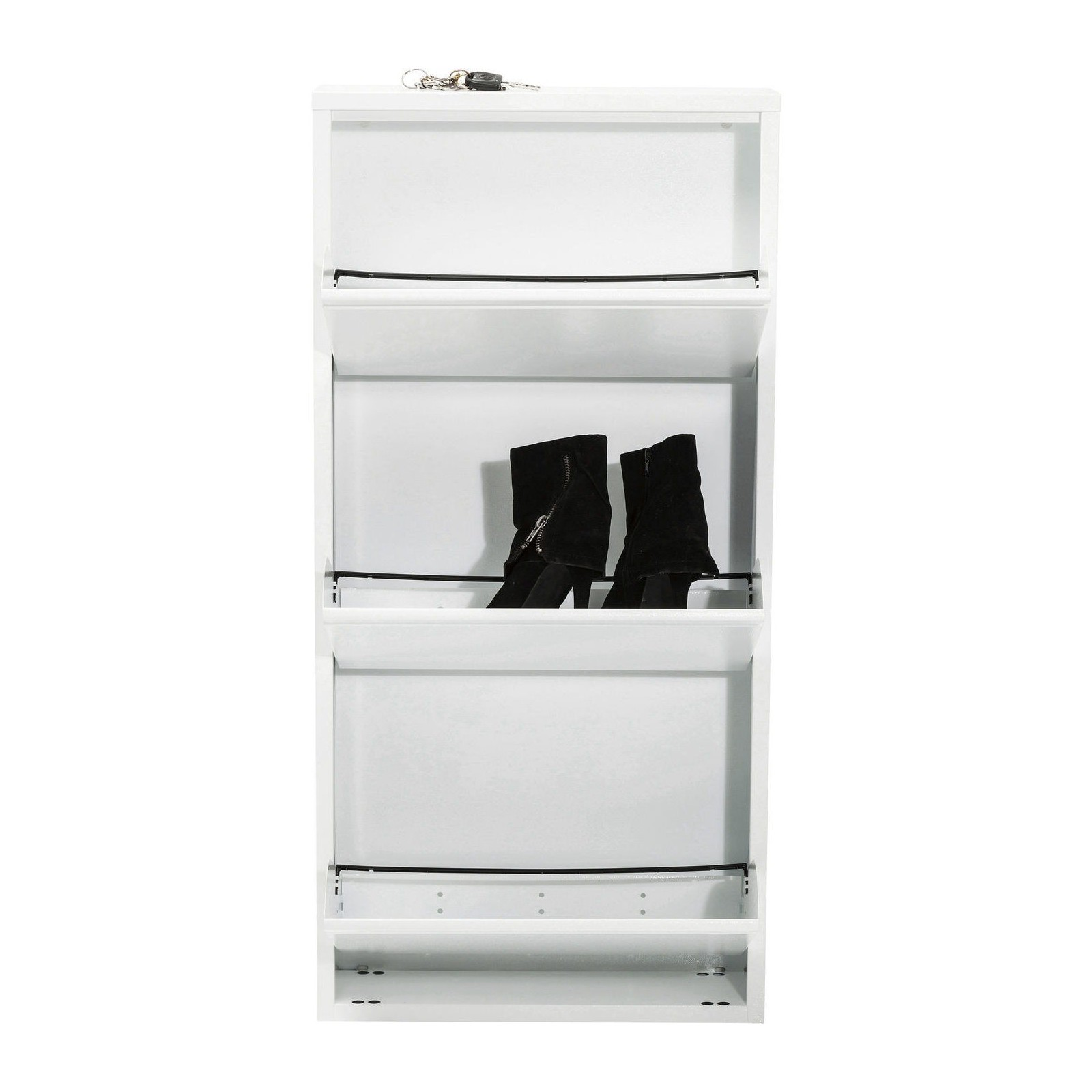 casier chaussure blanc caruso 3 tiroirs kare design. Black Bedroom Furniture Sets. Home Design Ideas