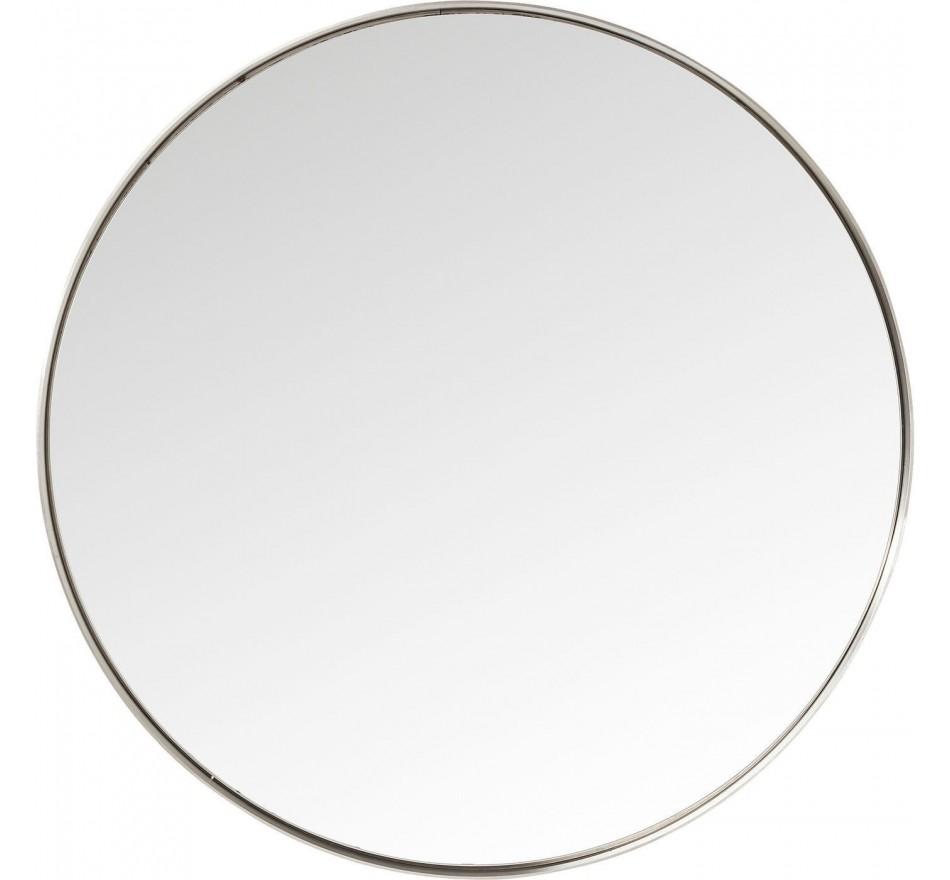 Miroir Curve rond inox 100cm Kare Design
